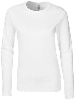 Gildan Ladies Soft Style Long Sleeve T-Shirt (M)