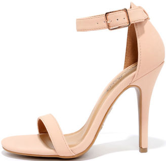 Time to Party Rose Blush Nubuck Ankle Strap Heels $28 thestylecure.com