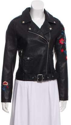 Walter Baker Daria Embroidered Leather Jacket w/ Tags
