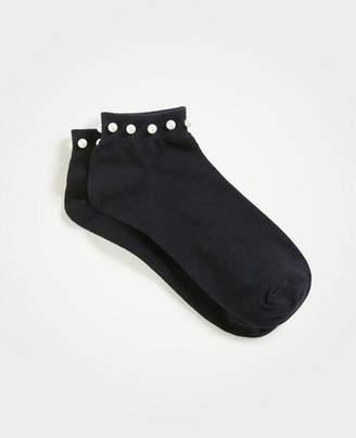 Ann Taylor Pearlized Crew Socks