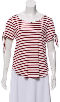 Public School Striped Tie-Accented T-Shirt