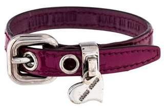 Miu Miu Leather Bracelet