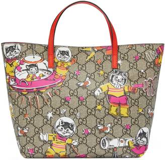 Children's GG space cats tote $530 thestylecure.com