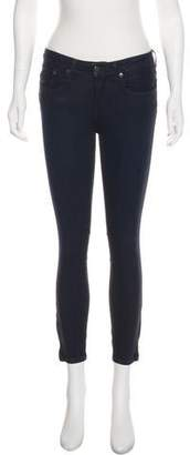 Helmut Lang Coated Mid-Rise Jeans