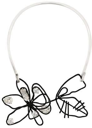 Maison Margiela floral embellished necklace