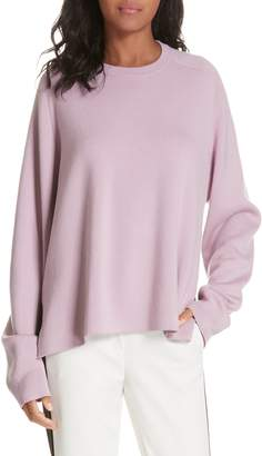 Tibi Silk Back Merino Wool Sweater