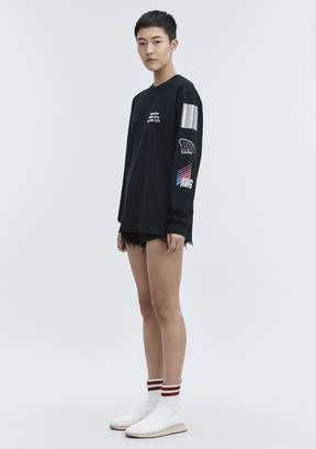Alexander Wang SPONSORED LONG SLEEVE TEE TOP
