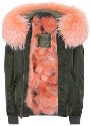 Mr & Mrs Italy Fur-trimmed bomber jacket