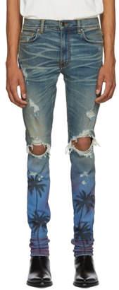 Amiri Indigo Night Palm Thrasher Jeans