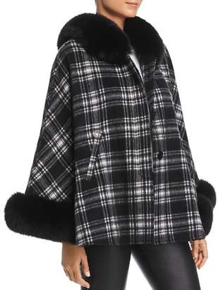 Maximilian Furs Fox Fur Trim Cashmere Cape - 100% Exclusive