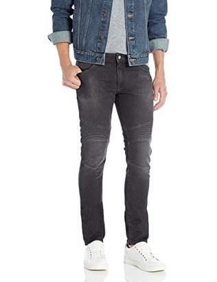 Armani Exchange A|X Men's Skinny Dark Wash Ribbed Jeans