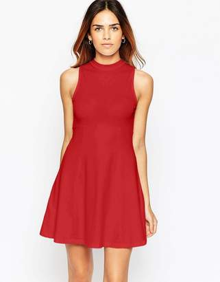 Asos Design High Neck Empire Dress