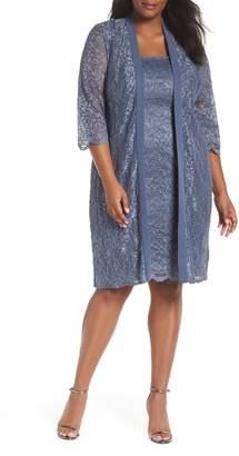 Alex Evenings Lace Sheath Dress with Jacket