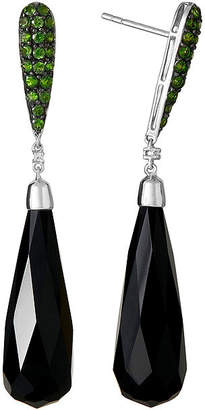 FINE JEWELRY LIMITED QUANTITIES Genuine Onyx and Lead Glass-Filled Ruby Drop Earrings