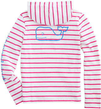 Vineyard Vines Girls Long-Sleeve Stripe Hoodie Tee