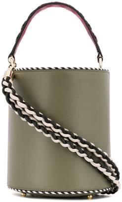 Les Petits Joueurs braided strap bucket bag
