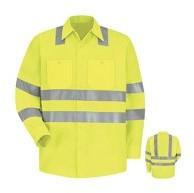 Red Kap Men's Hi-Visibility Work Shirt - Class 3 Level 2