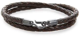 Co CAPUTO AND Braided Leather Double Wrap Bracelet