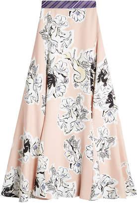 Roksanda Printed Silk Skirt