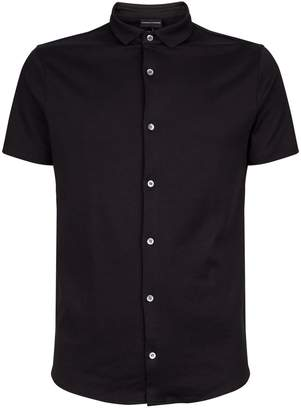 Emporio Armani Slim Cotton Short-Sleeve Shirt