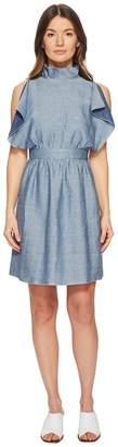M Missoni Denim Ruffle Dress
