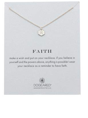 Dogeared Sterling Silver Faith Angel Wing Pendant Necklace