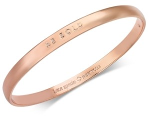 Kate Spade Rose Gold-Tone Be Bold Bangle Bracelet