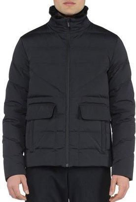 Fendi Basic Nylon Puffer Jacket, Black $2,400 thestylecure.com