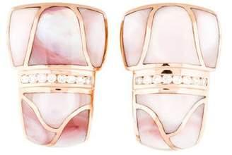 Mother of Pearl 14K & Diamond Earrings