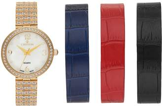 Croton Women's Cubic Zirconia Watch & Interchangeable Band Set