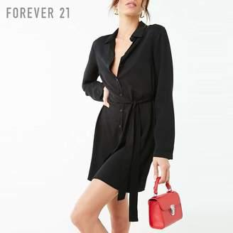 Forever 21 (フォーエバー 21) - Forever 21 サッシュベルトシャツワンピース