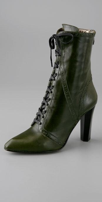 Diane Von Furstenberg Pickford High Heel Granny Bootie