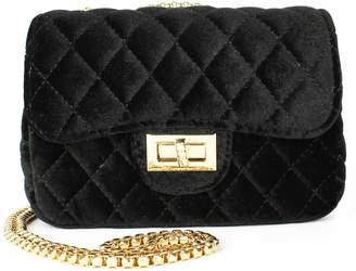 Popatu Quilted Velvet Shoulder Bag