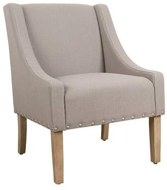 HomePop Modern Swoop Accent Chair with Nailhead, Multiple Colors