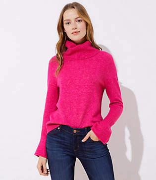 LOFT Petite Flare Sleeve Sweater