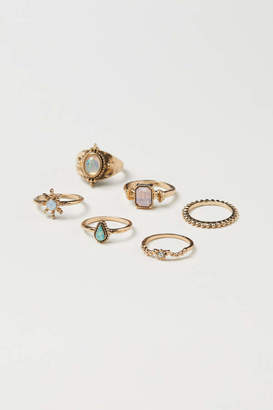 H&M 6-pack Rings - Gold-colored - Women