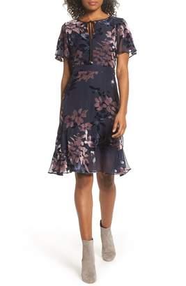 Sam Edelman Burnout Floral Flare Hem Dress