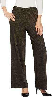 Joan Rivers Classics Collection Joan Rivers Petite Length Shimmering Knit Pull-On Pants