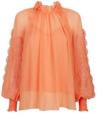 See by Chloe Embellished Crepon Blouse