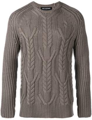 Neil Barrett multi-knit crew neck sweater