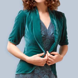 M·A·C Nancy Mac Silk Velvet Tea Jacket In Peacock