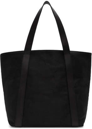 Ann Demeulemeester Black Canvas and Leather Tote