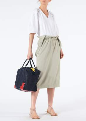 Tibi Astor Knit Skirt with Detachable Shoulder Straps