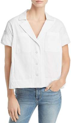 Donna Karan Roll-Tab Shirt