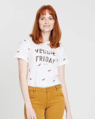 Maison Scotch All-Over Printed Tee
