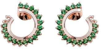 Vendome Aoyama Nouvel Heritage Tsavorite Hoop Earrings - Rose Gold