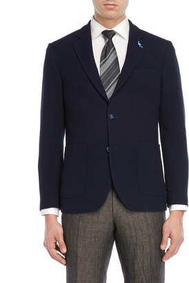 Tailorbyrd Navy Waffle Texture Sport Coat