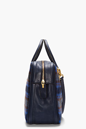 Marc by Marc Jacobs Blue Rosi Plaid Show tote