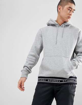 Stussy Hoodie With Jacquard Rib in Gray