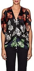 Zero Maria Cornejo Women's Kou Floral Stretch-Silk Blouse